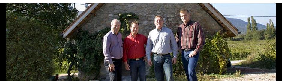 Gilbert Perrier et ses 3 fils